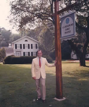 angelo anzalone in front of his office